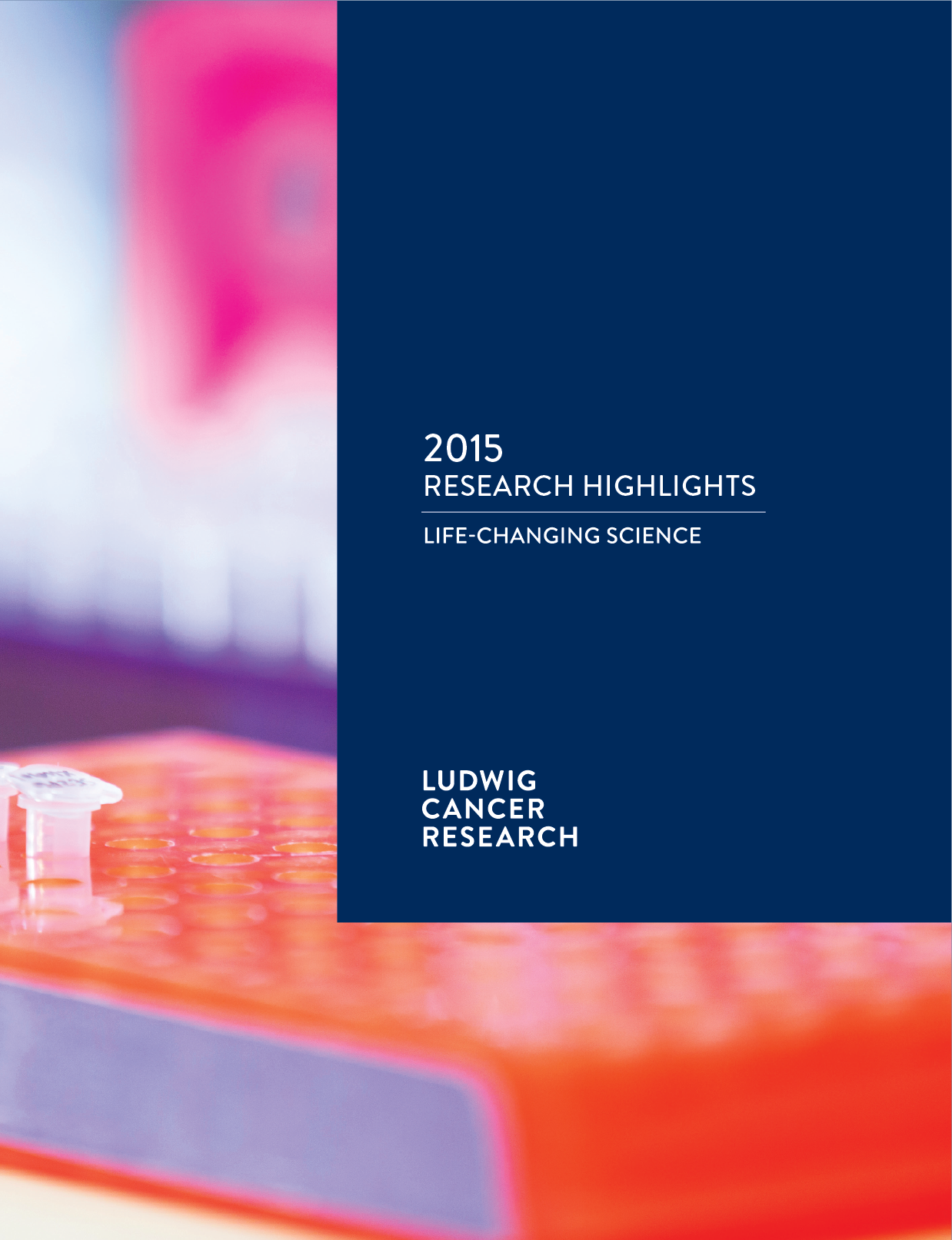 Ludwig Annual Research Highlights report cover