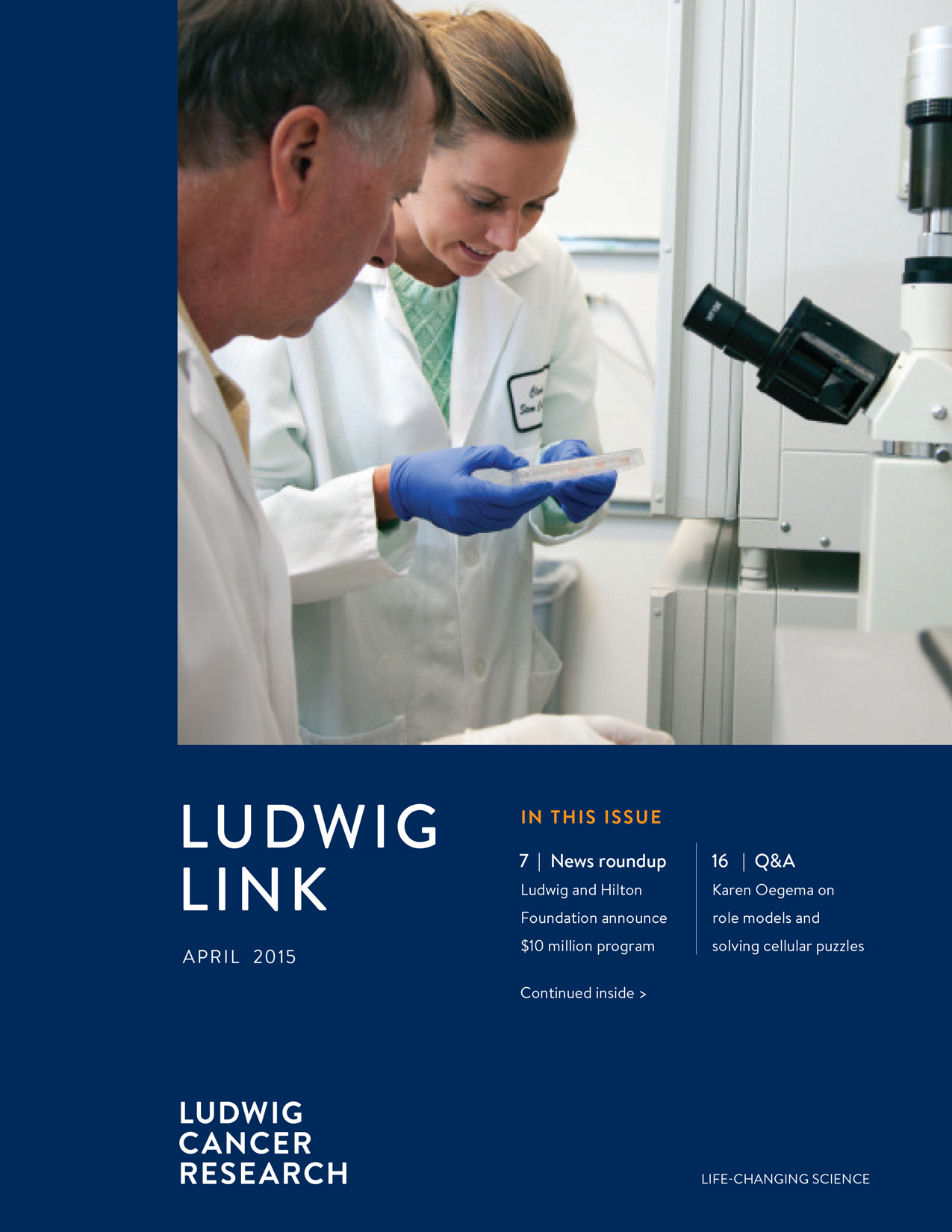 Ludwig Link April 2015 cover