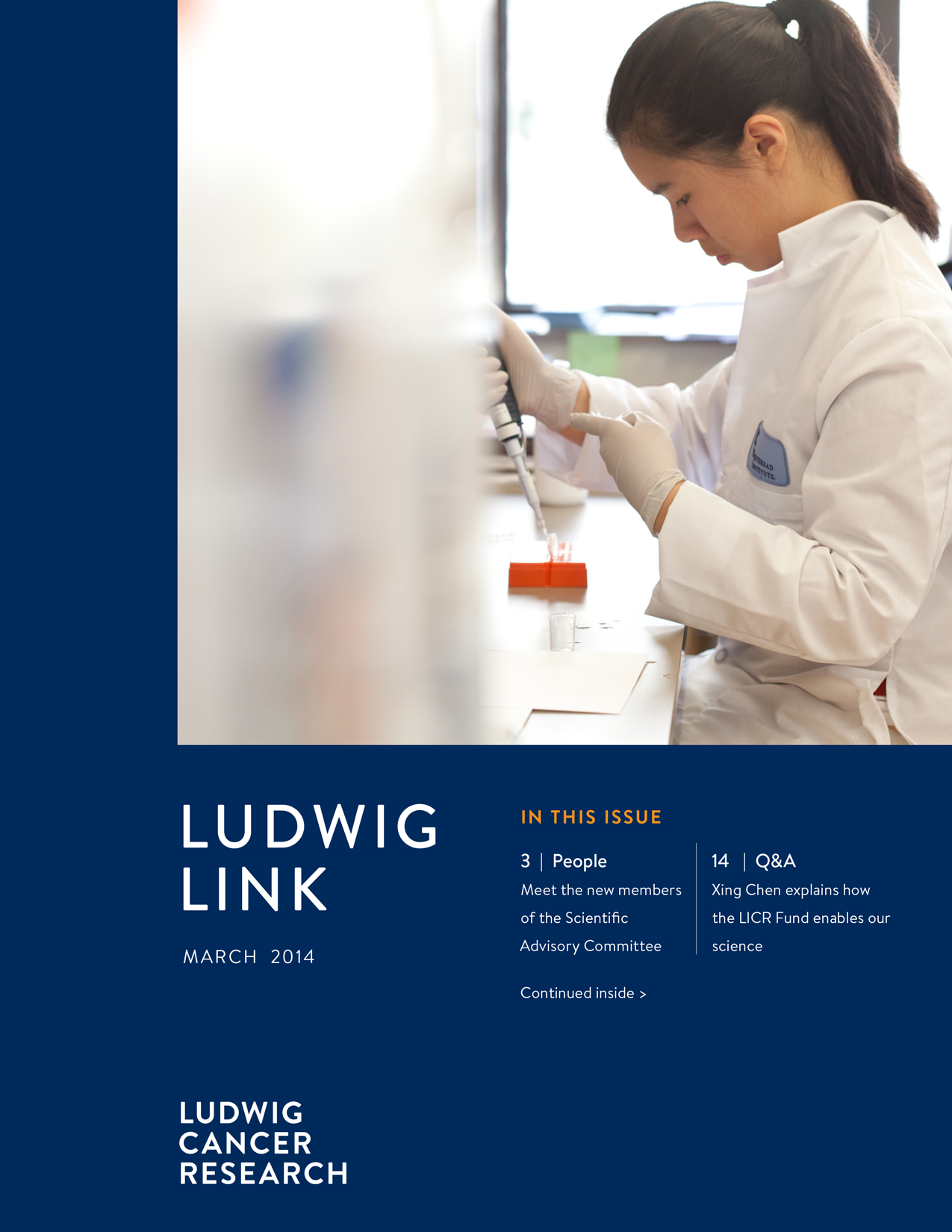 Ludwig Link March 2014 cover