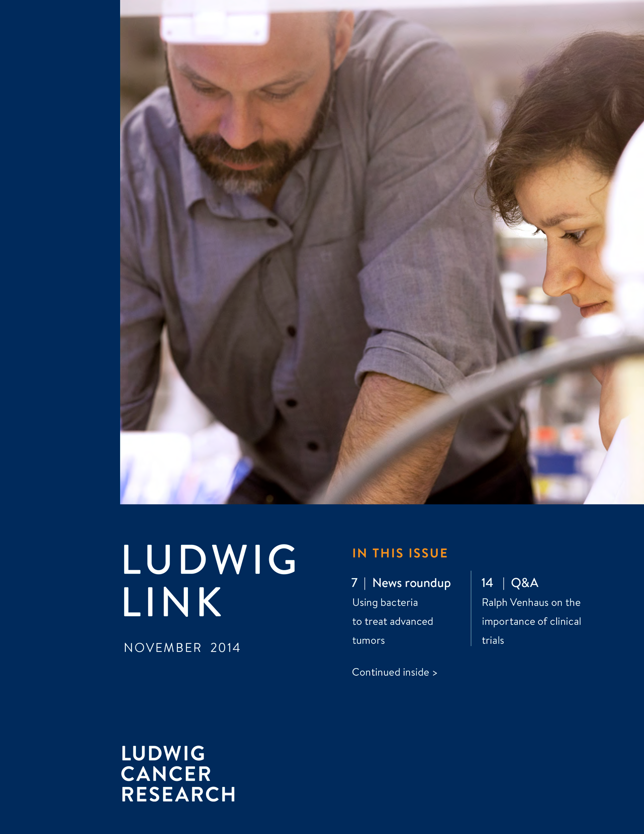 Ludwig Link November 2014 cover